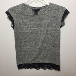 Marc by Marc Jacobs Linen Gray Short Sleeve Top